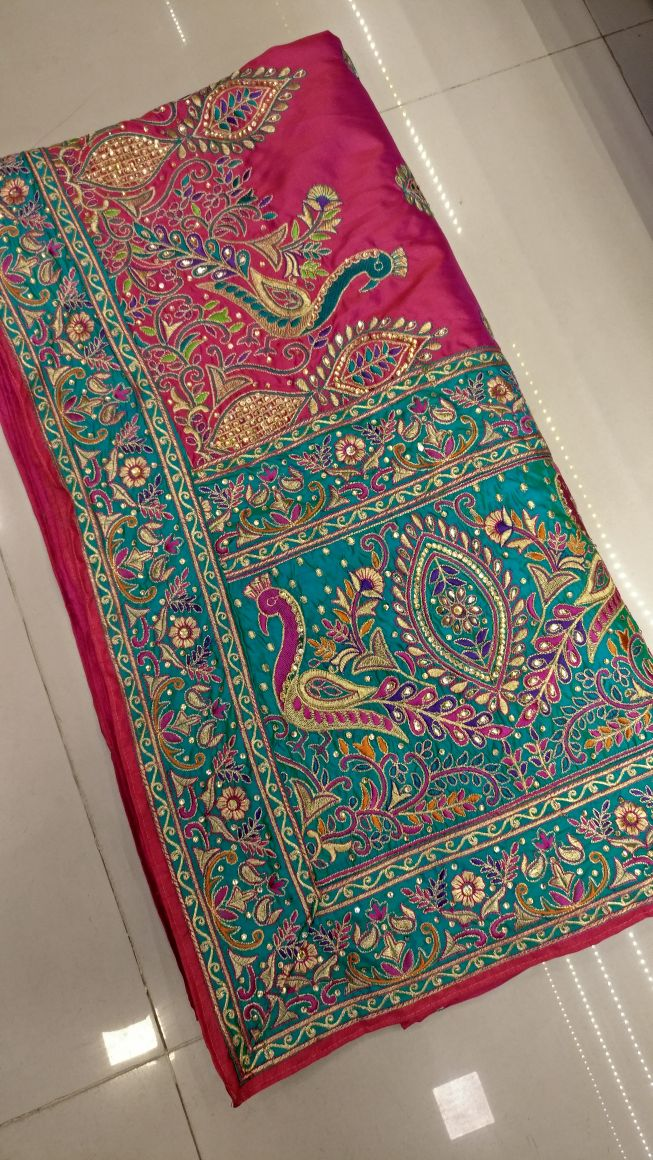 Limited Edition Peacock Embroidered Wedding Saree