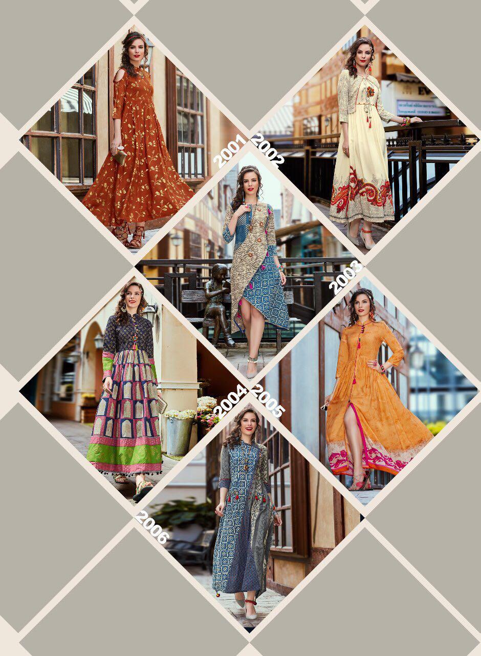 Shop Kajal Style D.I.V.A Vol-2 Western Dresses Online