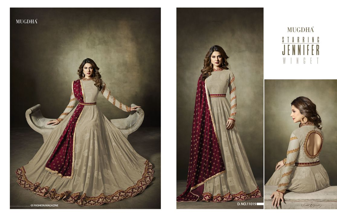 Mugdha Premium Designer Anarkali Suits 11019 Color Edition Beige B