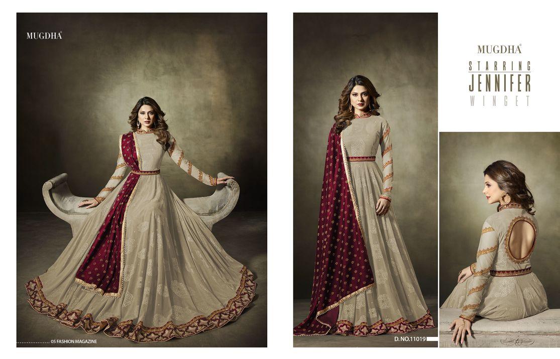 Mugdha Premium Designer Anarkali Suits 11019 Color Edition Beige B