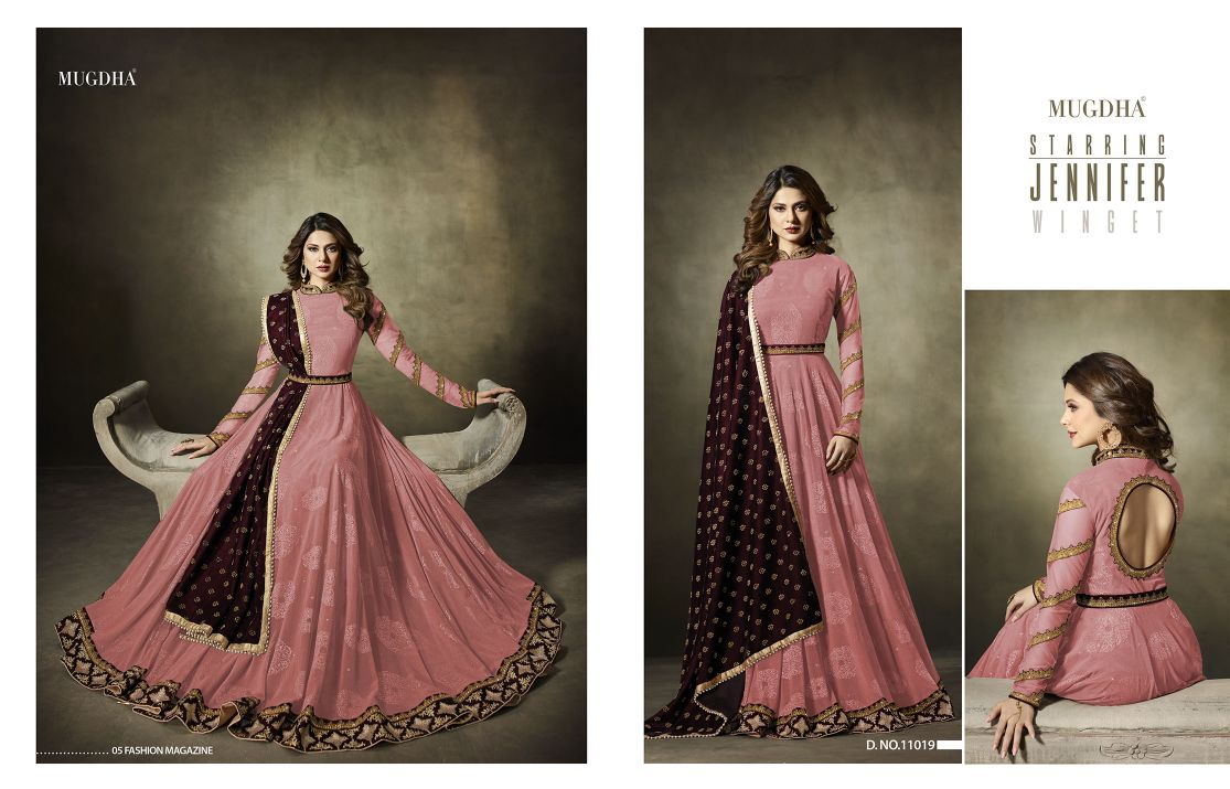 Mugdha Premium Designer Anarkali Suits 11019 Color Edition Pink B