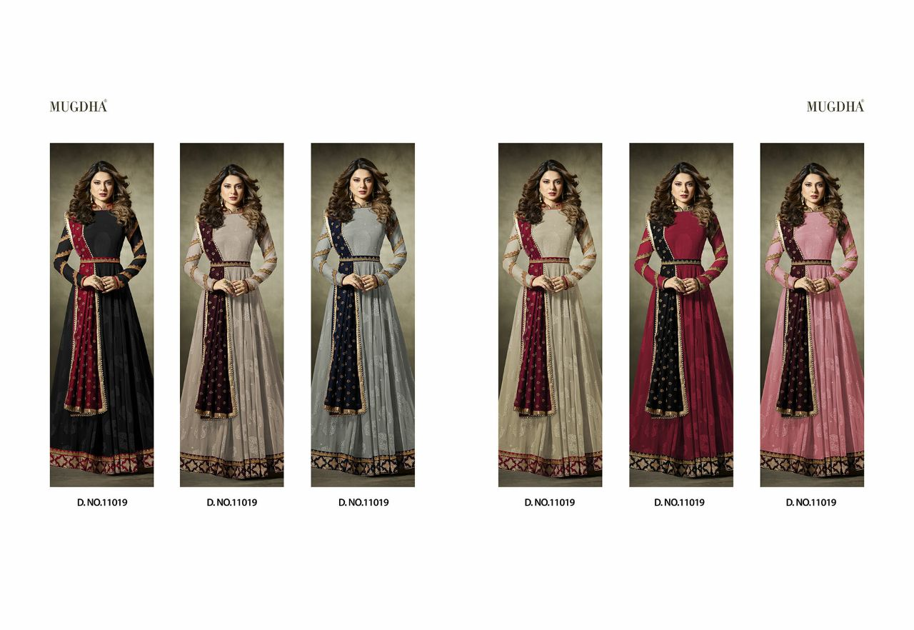 Shop Mugdha Premium Designer Anarkali Suits 11019 Color Edition Online