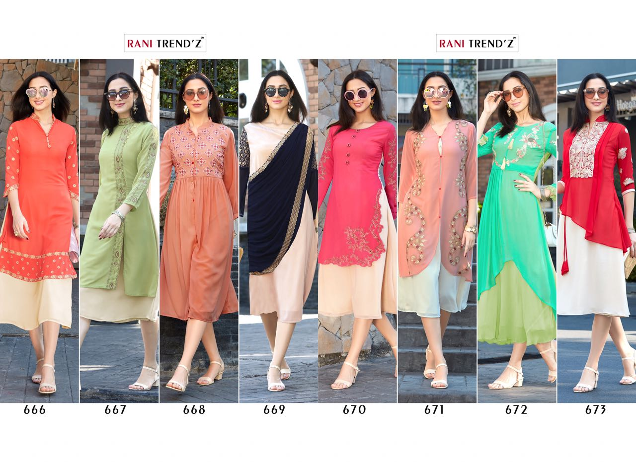Rani Trendz Western Dresses Part B Collection