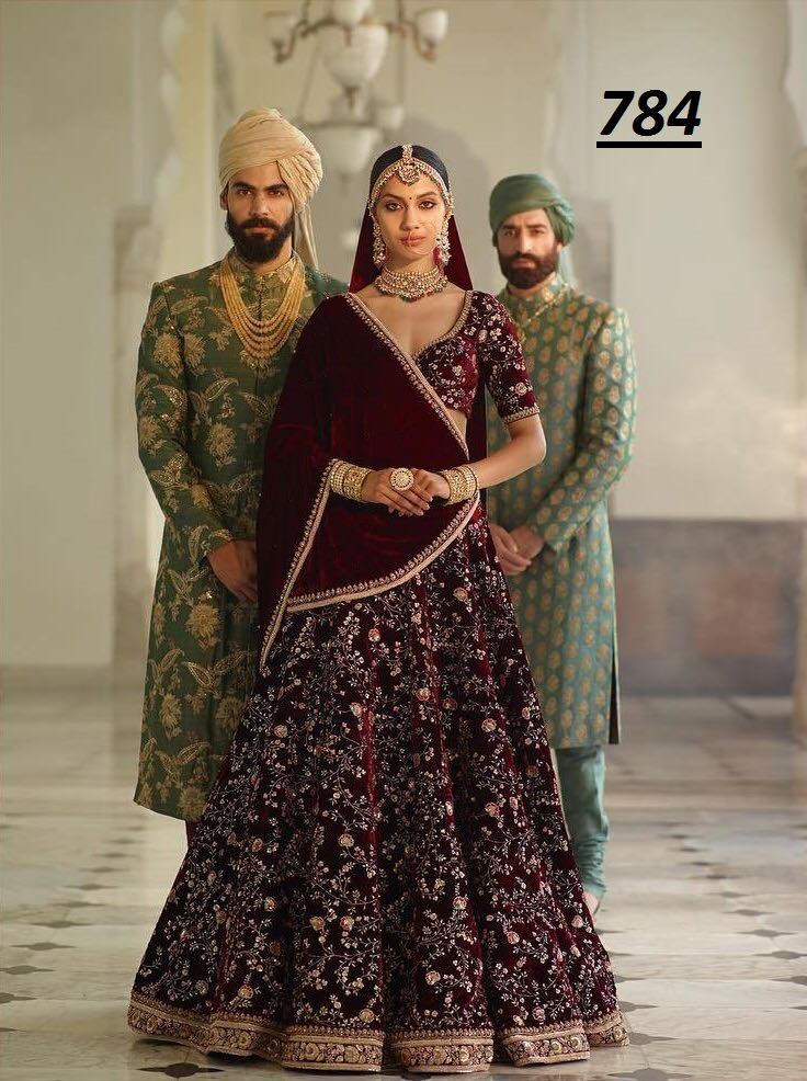 Rose Bridal Lehenga Blouse 784