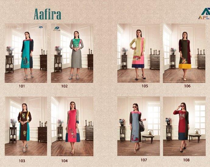 Arihant Trendz Aafira Knee Length Dresses cum Kurtis