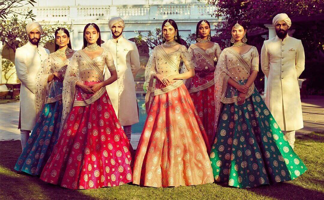 An Endless Summer Wedding Designer Lehenga Collection by Sabyasachi Mukherjee