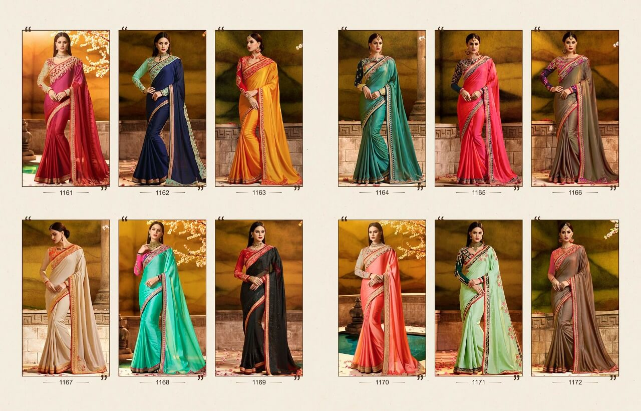 Ardhangini Sakshi V3 Stylish Bridal Party Wear Sarees