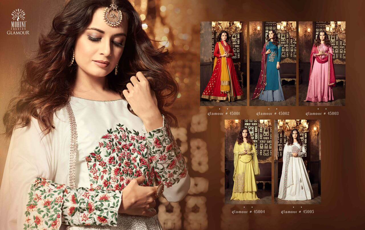 Shop Glamour 45 Dia Mirza Party Wear Salwar Suits Online