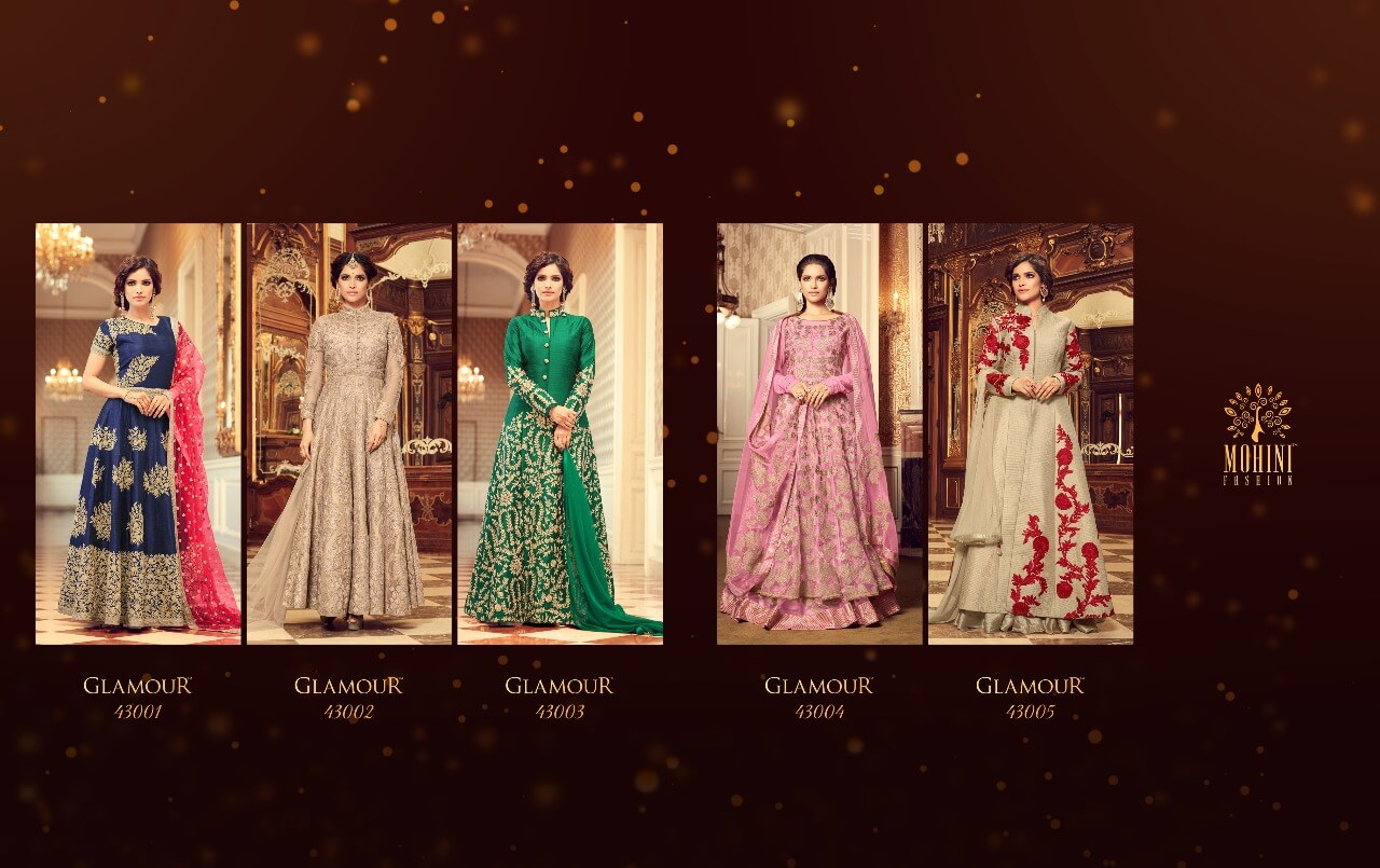 Shop Mohini Fashions Floor Length Anarkali Salwar Suits Glamour v43 Online