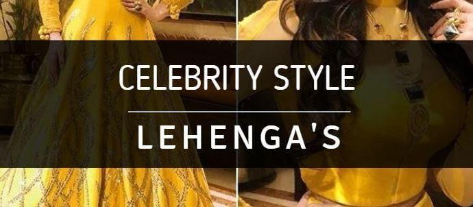 Shop Celebrity Style Lehengas Online www.ArtistryC.in
