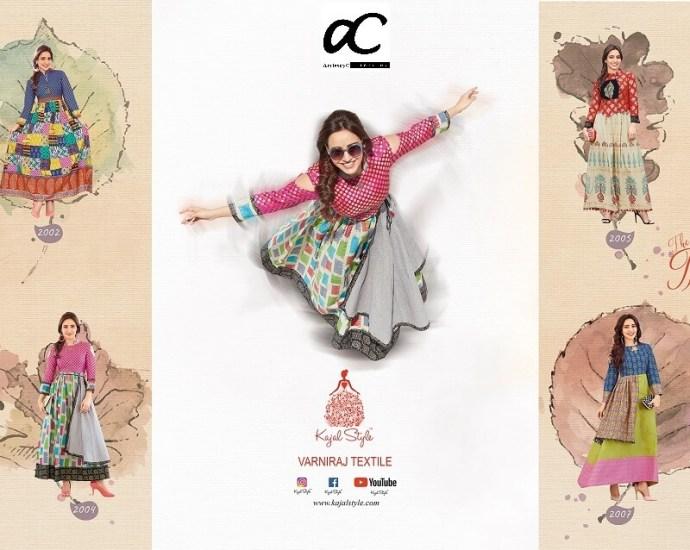 Kajal Style Designer Long Kurtis MUMTAZ VOL 2