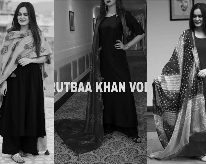 Rutbaa Khan Palazoo Suits