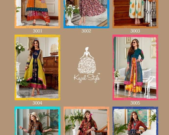 Kajal Style Indo Western Kurtis Diva Vol 3 Collection