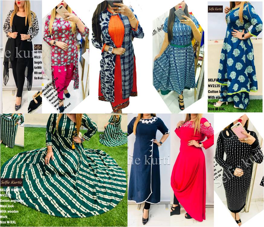 Shop Best of NV Selfie Kurtis Online