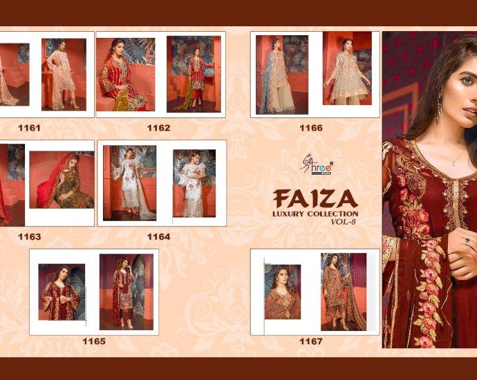 Pakistani Designer Suits Faiza Luxury Collection Vol 8