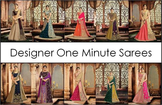 Designer One Minute Saree Padmavati