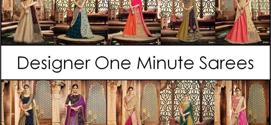 Designer One Minute Saree Padmavati