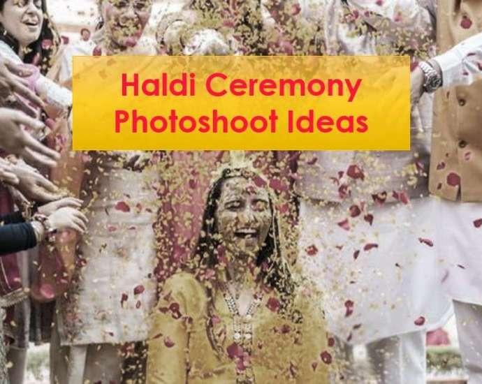 Haldi Ceremony Photoshoot Ideas