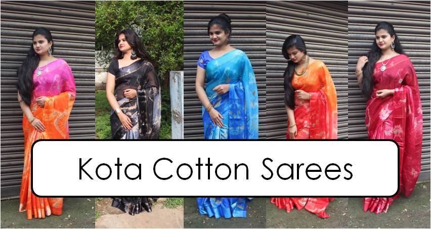 Shop Kota Cotton Sarees Online