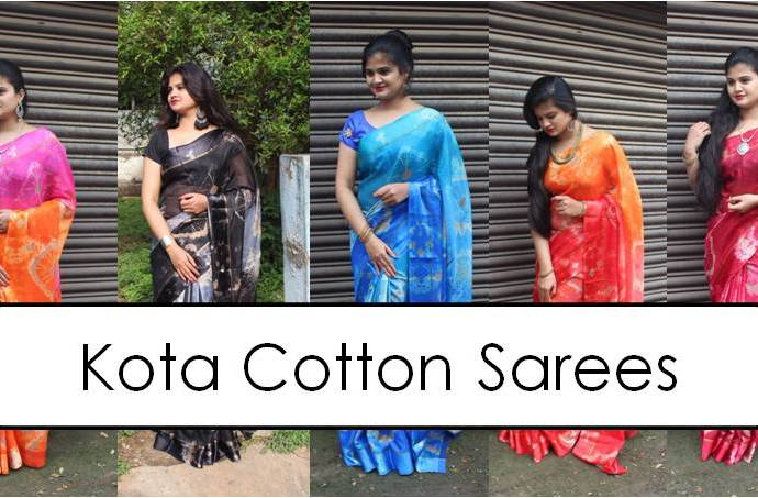 Shop Kota Cotton Sarees Online