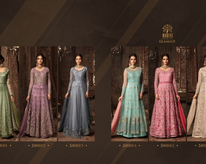 Designer Floor Length Anarkali Gown Glamour Vol 50
