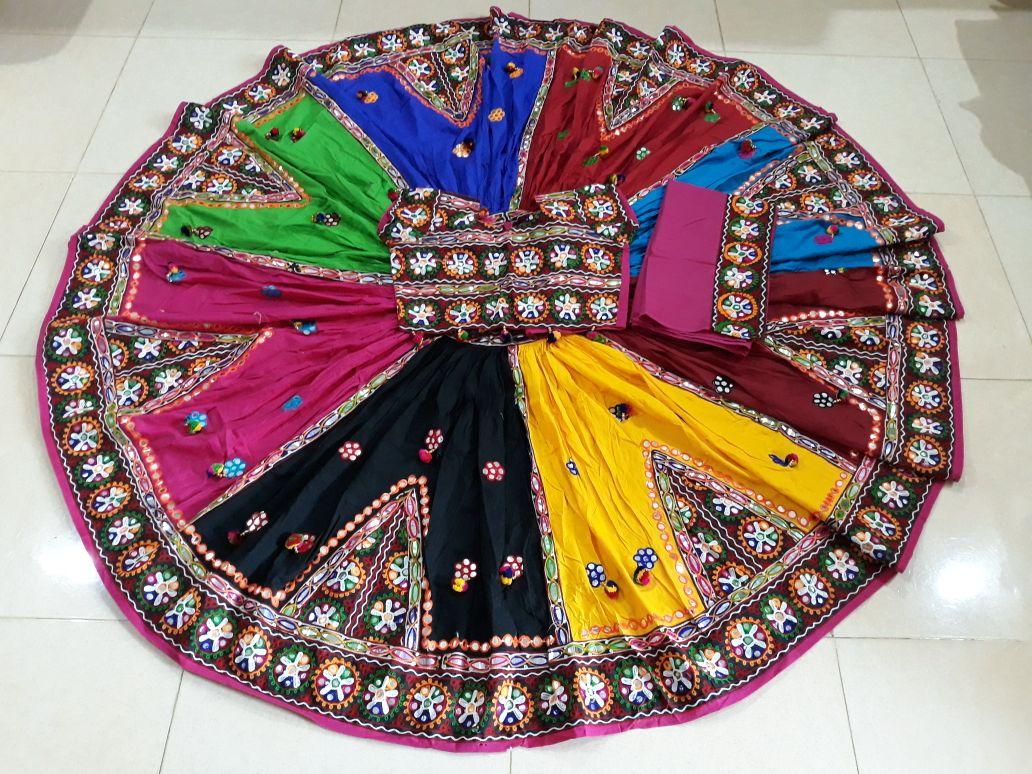 Shop Navratri Special Navrangi Kutchi work Chaniya Choli Online