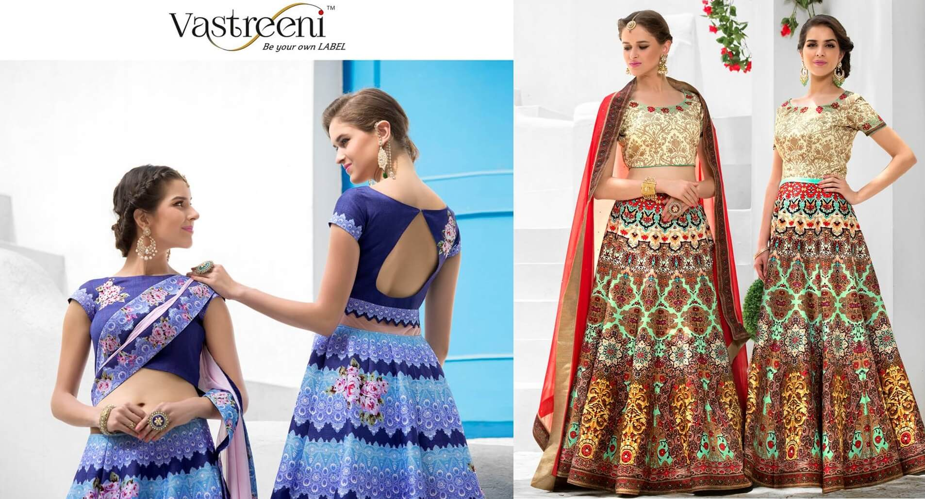 2in1 Dresses Digital Lehenga Gown Saptrangi Signature collection