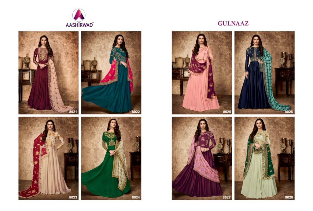 Shop Designer Floor Length Anarkali Suits Aashirwad Gulnaz Online