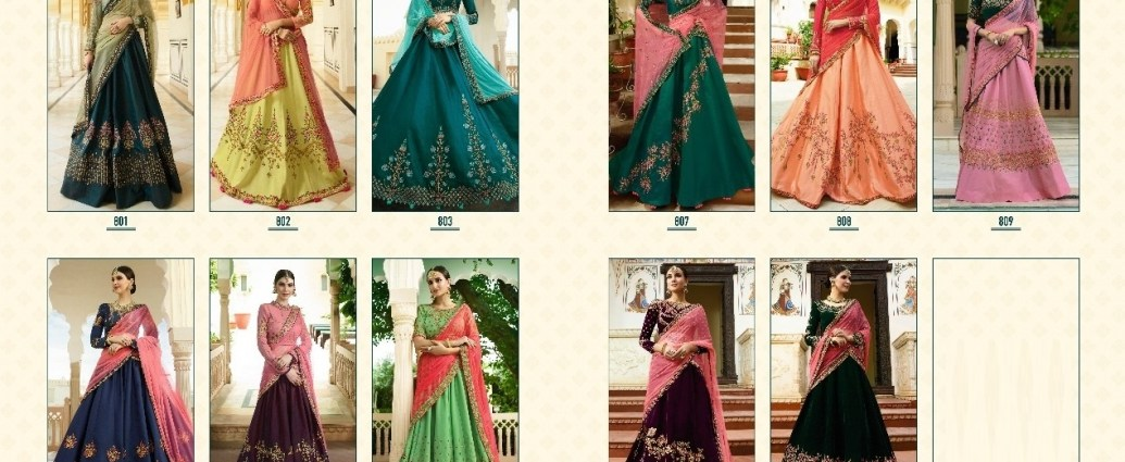 Designer Indian Wedding Lehenga Vritika Fashion Sparsh Vol 8