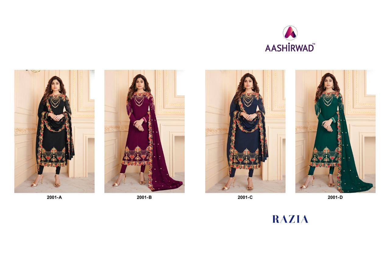 Designer Punjabi Suits Aashirwad Razia