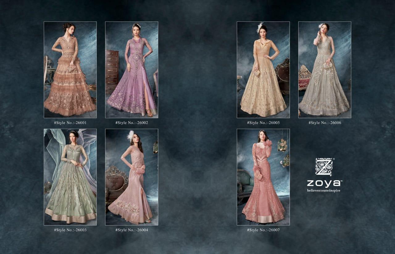 Indo Western Partywear Dresses Zoya Celebration