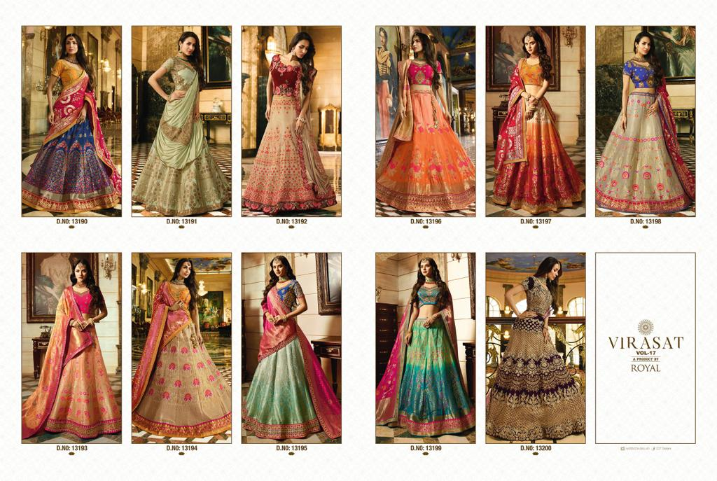 Shop Royal Wedding Bridal Lehenga Set Virasat Vol 17 Online