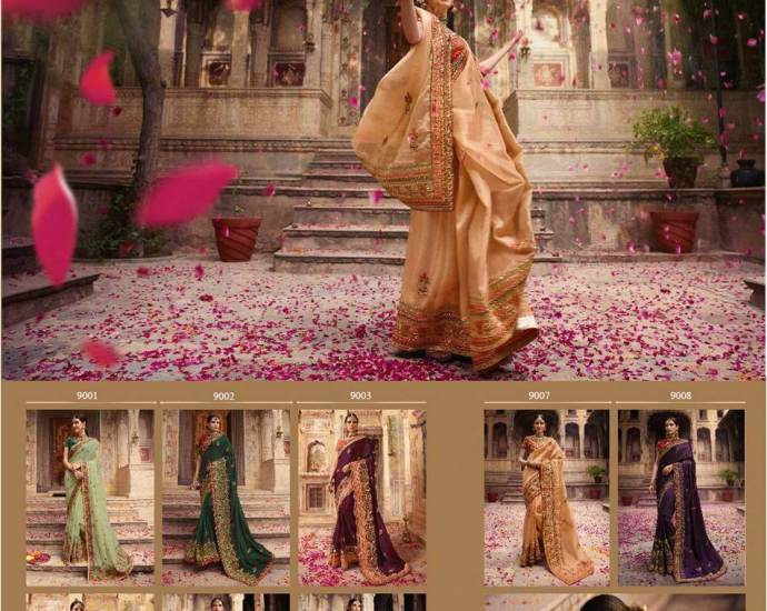 Bridal Sarees Palash vol 9 by Vritika Lifestyle