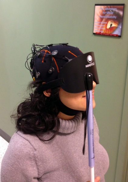 Mobile EEG Used By the Merabet Lab In Study Of Game-Based Navigation