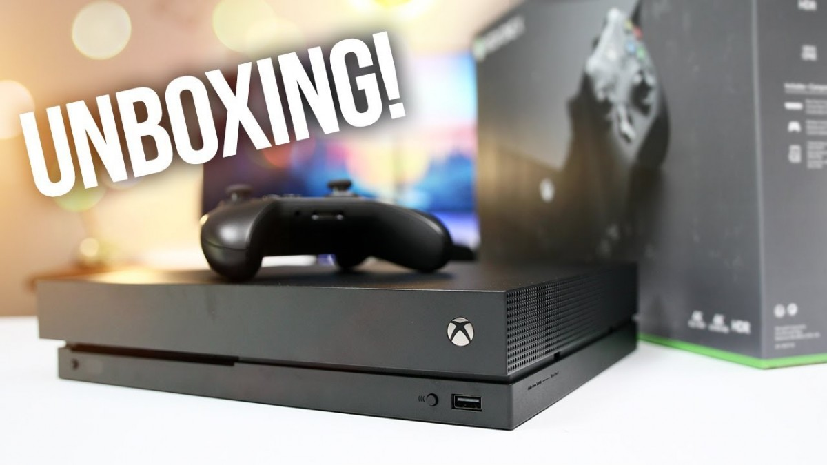 NEW Xbox One X Unboxing Whats Inside