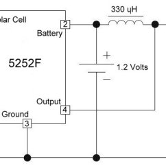 12 Volt Wiring Diagram For Garden Lights Jensen Running 3 Devices From 1 2 Batteries Electronics Artists Above Is The Schematic Solar Light Using 5252f Integrated Circuit And A 330 Microhenry Inductor