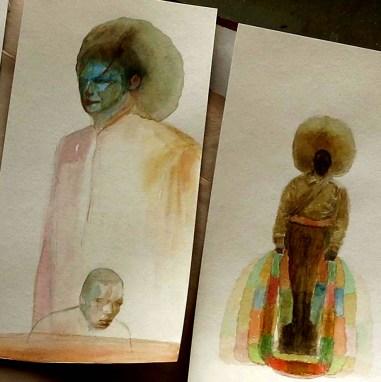 Painting in progess kathmandu