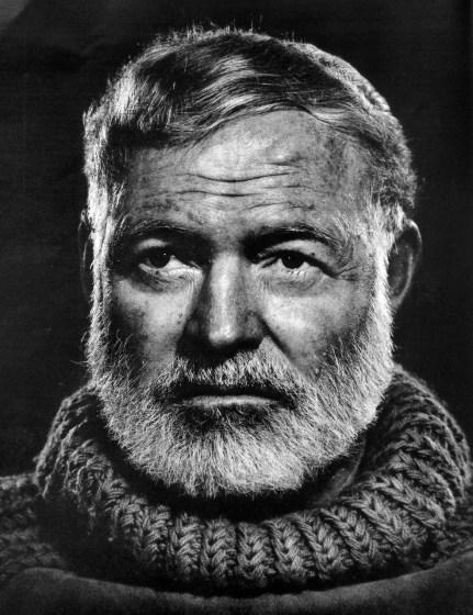 Ernest Hemingway: credit Pixabay.com
