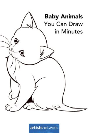 animals draw easy drawing simple step sketches beginners drawings kitten animal perfect adults sketch pencil artistsnetwork beginner realistic learn creative