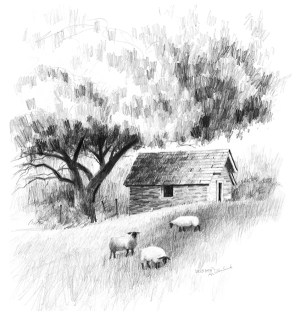 pencil landscape drawings drawing sketch pencils easy charcoal sketches simple caran dessin lesson tutorial landscapes nature zeichnen sketching ache draw