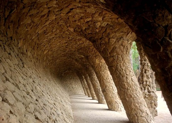 within the Parc Guell
