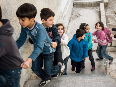 Kids at a Syrian school in Kahramanmaras, by David Gross
