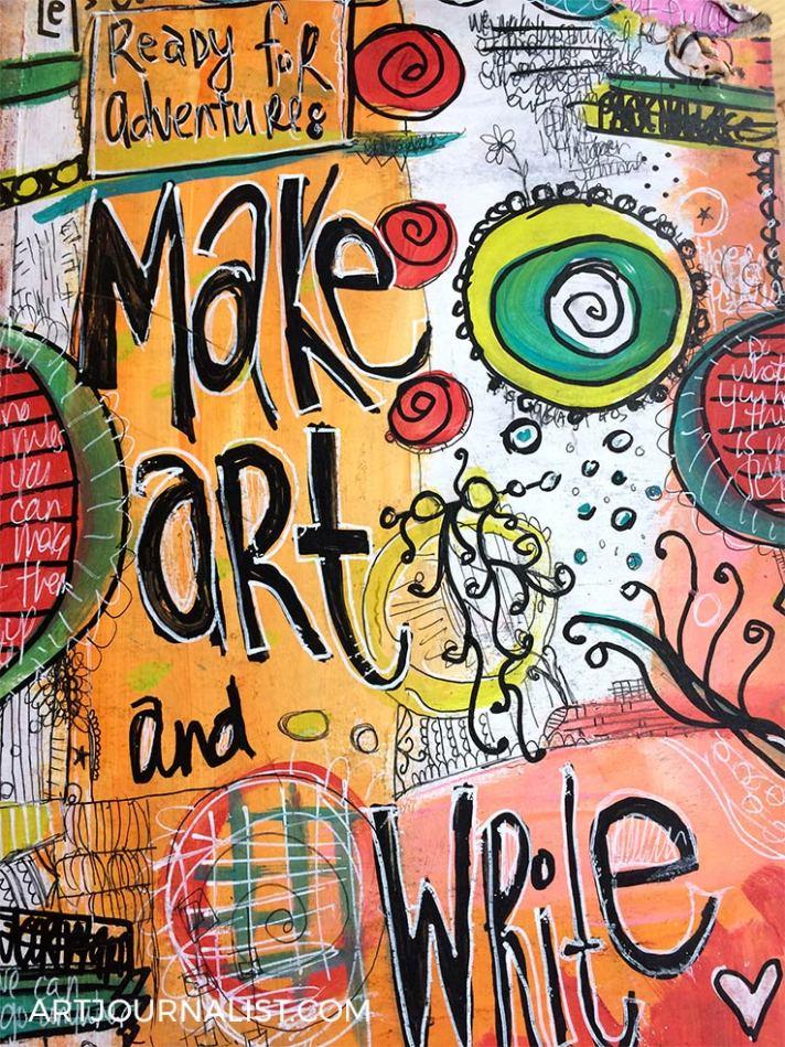 make art and write