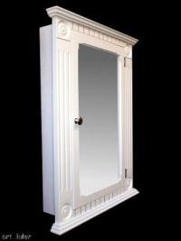 Recessed White Medicine Cabinet / Rosette Classic Style | eBay