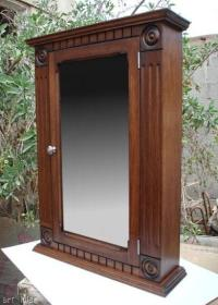 Surface Mount /Walnut Medicine Cabinet / Rosette Style | eBay