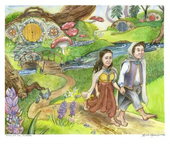 Veronica and Juan the Hobbits