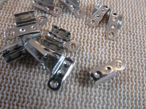 Caches nœuds argenté 9x4mm - lot de 50