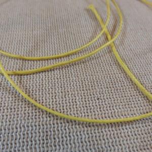 Fil cordon jaune 1mm – vente par 10 mètres