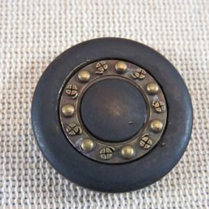 Boutons marron foncé bronze 28mm – lot de 2 bouton de couture