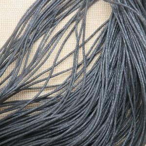 Fil cordon noir 1mm – vente par 10 mètres